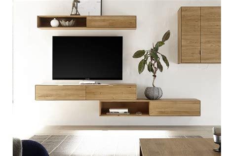 Meuble TV suspendu en bois massif Filigrame   HELLIN