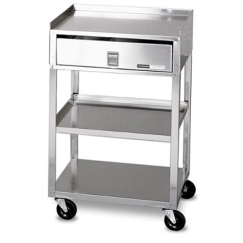 Stainless Steel Cart With Drawer by Mb Td Ss Stainless Steel Cart With Drawer And Wheels