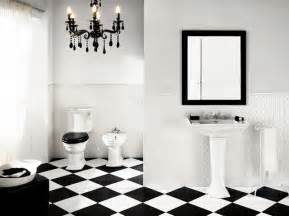 Black And White Tiled Bathroom Ideas Bianconero Black And White Floor Tile And Deco Classico