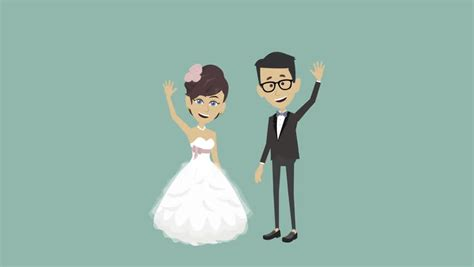 Wedding Animation by Wedding Animated Background Stock Footage