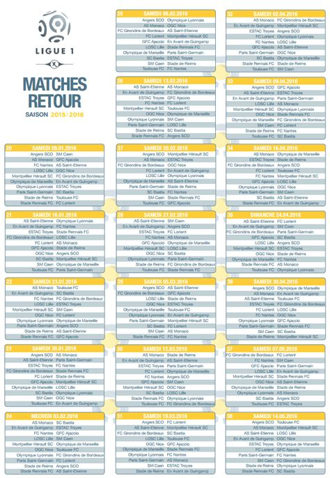 Calendrier Ligue 1 Tunisie 2015 Calendrier Rencontre Foot Rencontres Seniors 79