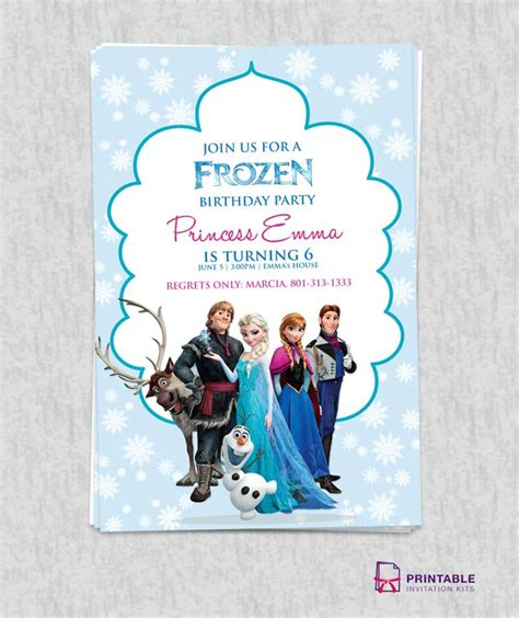 free printable birthday invitations templates for 25 best ideas about free frozen invitations on