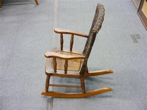 vintage wicker chair vintage kid s wicker rocking chair lincoln park emporium