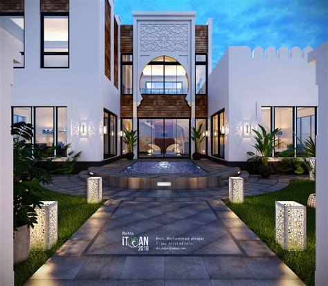 تصميم فيلا على الطراز الاسلامي small villa with islamic