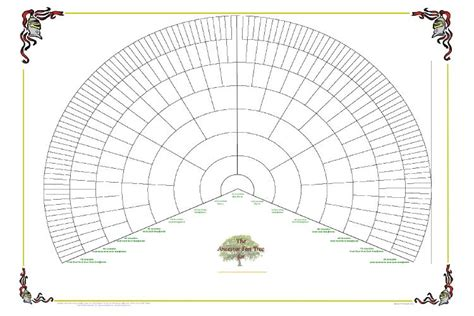 family tree fan chart template 8 best images of printable lds family tree chart blank