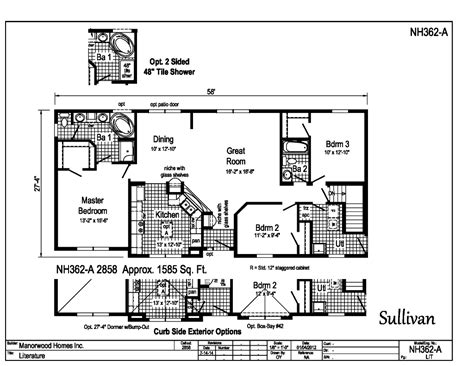 sullivan floor plan sullivan peninsula homes