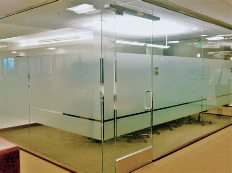 Budget Blinds Com Frosted Film Installed To Add Privacy And Design In This