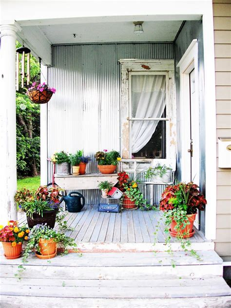 home outdoor decor shabby chic decorating ideas for porches and gardens hgtv