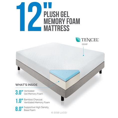 Memory Foam Mattress In Store Lucid 12 Inch Gel Memory Foam Mattress Layer 4