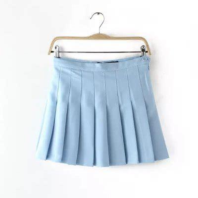 high waist tennis skirt light blue 183 storeunic 183