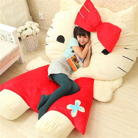 giant stuffed animal bed aliexpress com buy cartoon mattress hello kitty sofa bed