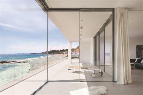 sliding glass walls minimal framed sliding glass wall system remodeling