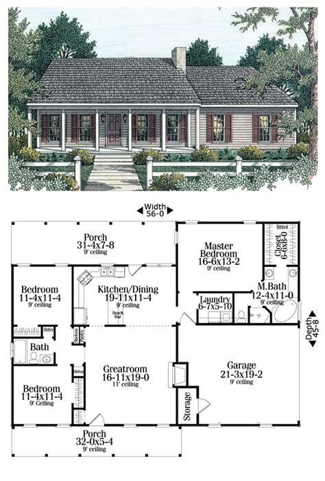 open living house plans house plan 40026 total living area 1492 sq ft 3