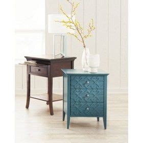 threshold 3 drawer fretwork accent table gray