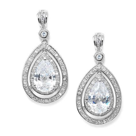 Vintage Bridal Chandelier Earrings Wedding Earrings Pink Diamond Earrings