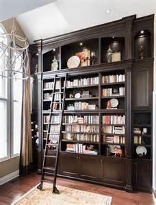 bookcase with ladder and rail 17 best ideas about chocolate living rooms on