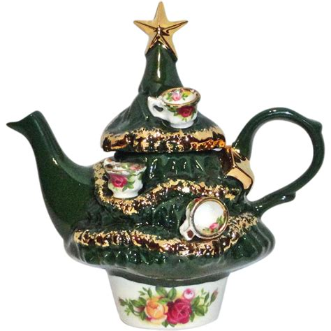 royal albert christmas tree teapot small from fransfinds