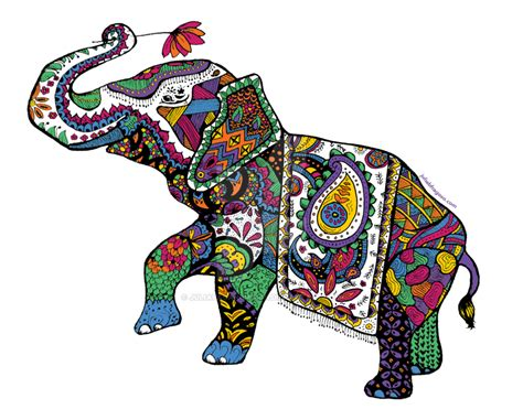 Elephant zentangle by juliapaganidesign on DeviantArt