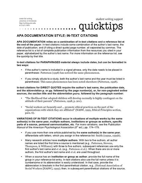 apa format quotes direct quotes apa format quotesgram