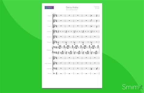 testo musicale danza araba da lo schiaccianoci partitura per orchestra