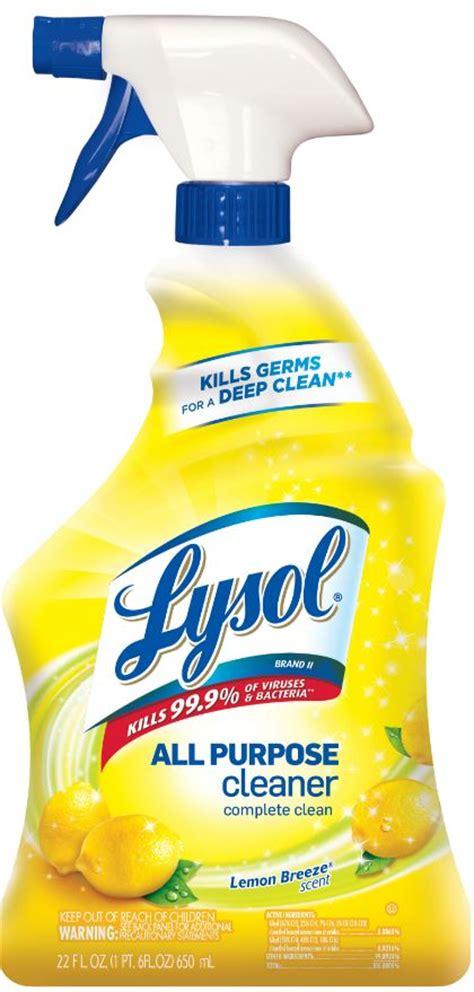 lysol brand ii  purpose cleaner trigger lemon breeze