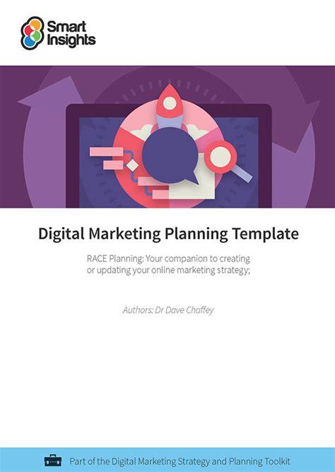 Free Digital Marketing Plan Template Smart Insights Digital Marketing Template