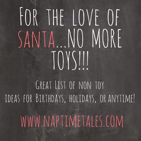 a great list of non toy gift ideas for kids experiences