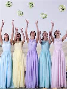 pastel color bridesmaid dresses 25 best ideas about pastel wedding colors on