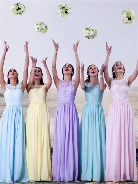 pastel color bridesmaid dresses 25 best ideas about pastel wedding colors on