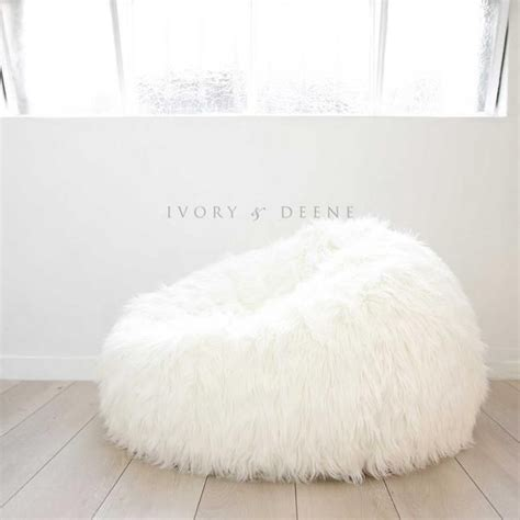 fluffy white fur bean bag chair i really really want a white fluffy beanbag for my new