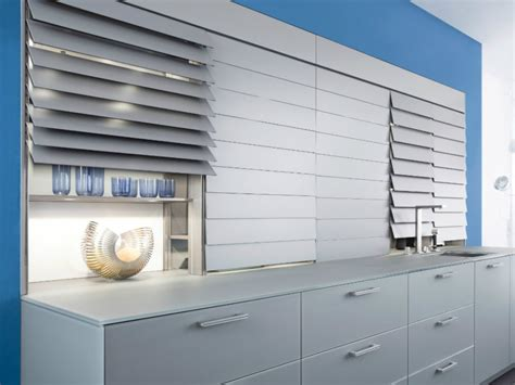 kitchen cabinet shutters contemporary leicht kitchen features cabinet shutters