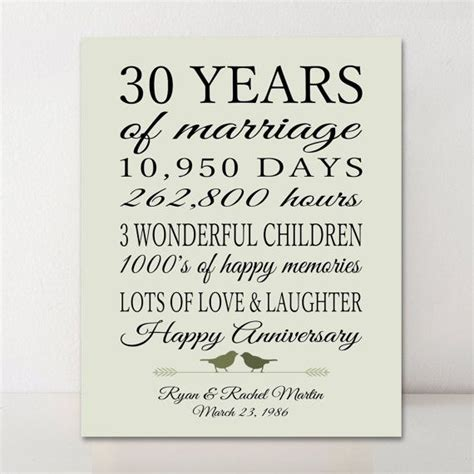 Wedding Anniversary Ideas For Parents 30th by Best 25 30th Anniversary Gifts Ideas On 30