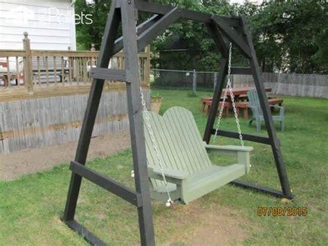 diy swing chair frame easy diy tutorial build install one pallet swing bench