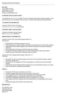 emergency room resume berathen
