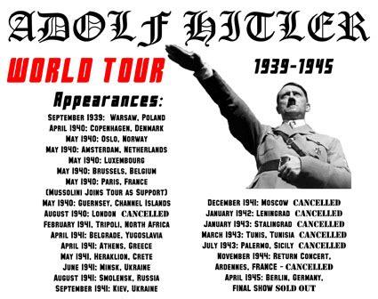 Adolf 4 Tees adolf european tour 1939 1945 t shirt