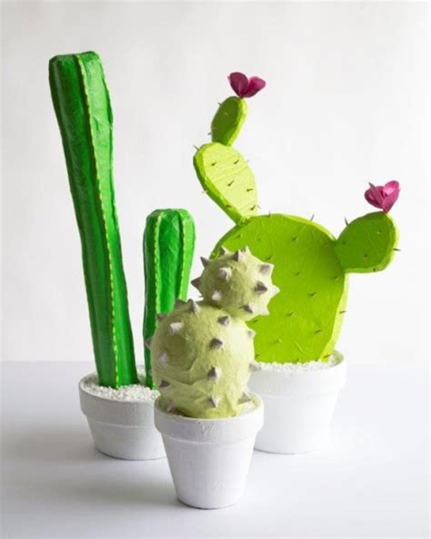 Cactus Papercraft - 12 great cactus crafts pillar box blue