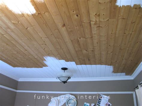 White Pine Tongue And Groove Ceiling by Office Phase One Funky Junk Interiorsfunky