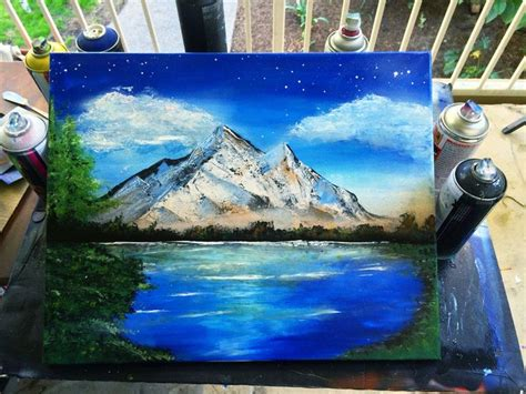 spray paint how to make mountains spray paint mountain landscape tundra winter