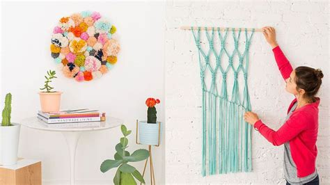 Home Decor Recycled Materials by 14 Diy Wall Art Projects For People Who Can T Paint