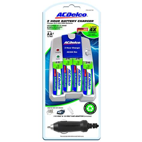 Recommend Aa Aaa Battery acdelco aa aaa nimh rechargeable fast charger with 4 aa