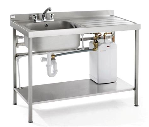 Portable Heated Self Contained Washing Up Sink & Drainer Unit   Vwhb Qfsink   Portable Sinks