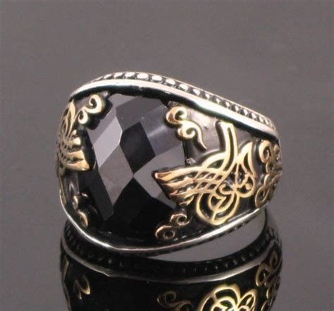 ottoman rings for men 925 sterling silver ottoman tugra designed men rings with
