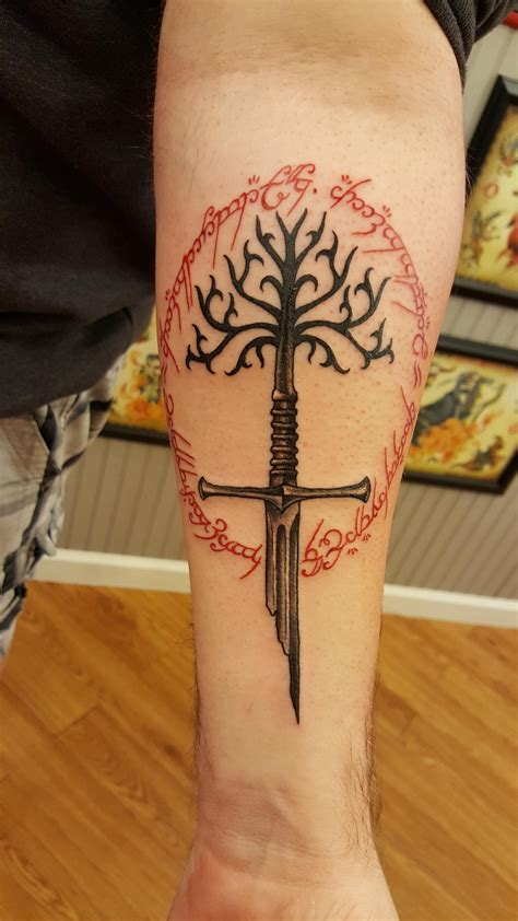 lord of the rings tattoo lord of the rings by derek big olive