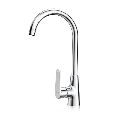cheap kitchen faucets gooseneck silver brass single handle