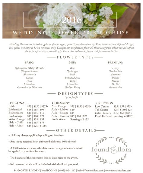 Wedding Flower Prices by Wedding Flower Price Guide 187 Found Flora 543 N Linden