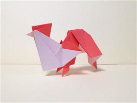 Origami Rooster - origami rooster tokyoing