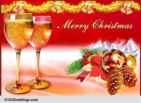 christmas toast   friend  friends ecards greeting cards