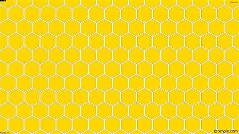 Yellow Hexagon Pattern | wallpaper honeycomb beehive hexagon yellow white ffd700