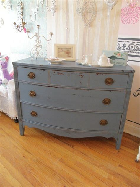 Blue Distressed Dresser shabby chic country cottage dresser historic blue distressed