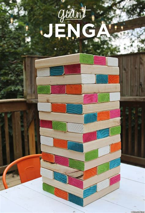 diy jenga is the coolest backyard photo